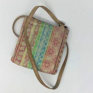 Fossil Tan Crossbody Bag w/side Wallet